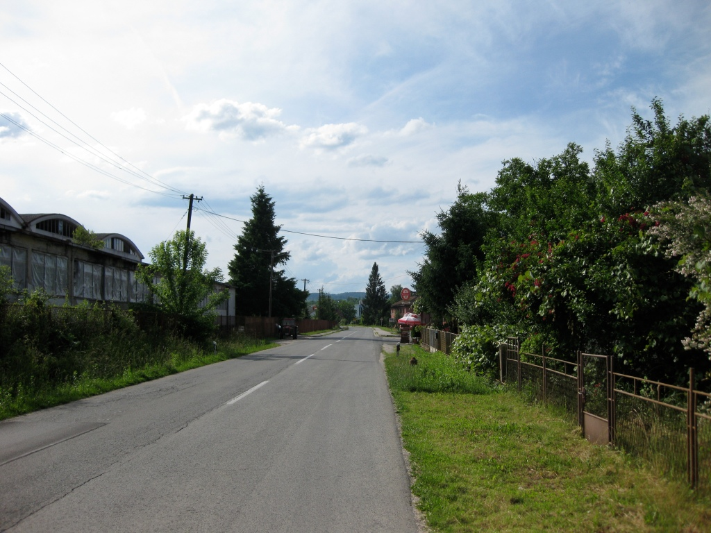 The main road in Gvozd, Croatia